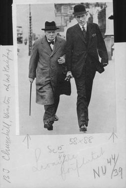 Winston Churchill with a man.