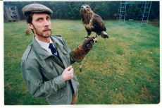 Ian Bedingfield seen with a Buzzard.