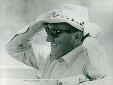 Henry Kissinger on safari in the Massi Mara wilderness reserve
