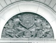 Figures on the old Parliament House