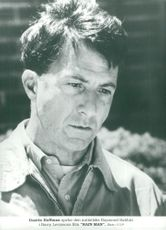 """Portrait image of Dustin Hoffman in the role of Raymond Babbit in the movie """"Rainman""""."""