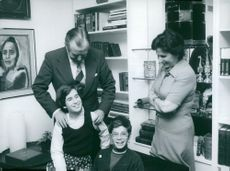 Chaim Herzog with his wife Aura and their children