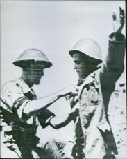Italian soldier surrenders on Pantelleria.