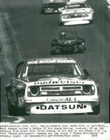 Actor Paul Newman wins rally with a Datsun at the Watkins Glen Grand Prix