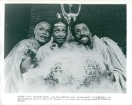 "Eartha Kittmed Eleanor McCoy and Ira Hawkins in ""Timbuktu on Broadway"
