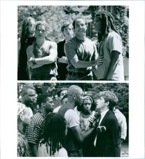 Two scenes from the film PCU.