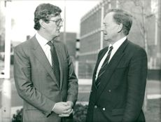 Charles Prior (L) with Peter Brown