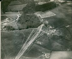 An aerial view of Whipsnade Zoo