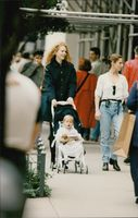 Nicole Kidman on the walk with daughter Isabella.