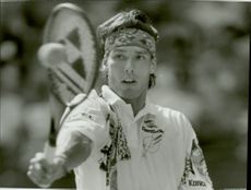 Portrait picture of Michael Stich taken in an unknown contest.