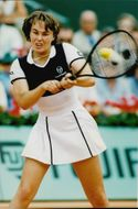 Martina HIngis of Switzerland plays in French Open