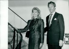 Sir Mark Thatcher with his wife Diane Thathcher.
