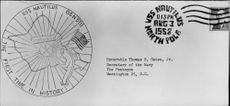 The first letter, signed and stamped under the North Pole's eternal ice cream at the USS Nautilus trip