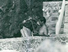 Princess Margriet Francisca shower with her husband Antony Armstrong-Jones. 1960