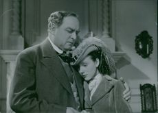 A scene from the film John Ericsson - winner of Hampton Roads with Carl Lind Barck and Marianne Aminoff, 1937.