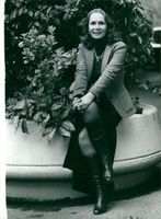 American actor Katherine Helmond on vacation in England.
