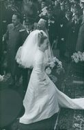 Princess Margriet of the Netherlands and Pieter van Vollenhoven on their wedding day.