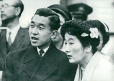 Crown Prince Akihito with her tant princess Chichibu