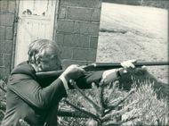 Viscount William Whitelaw in shooting
