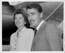 Photography on actor Peter Lawford and his spouse.