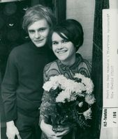 """Anders Lundström and Ulla Maria Lundström after the """"takeout"""" of the TV show """"At first glance"""""""