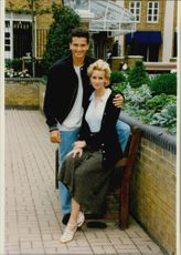 Dutch Richard Krajicek and his girlfriend Daphne Deckers.