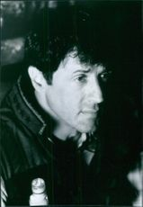 Close up of Sylvester Stallone during a scene in film Daylight.