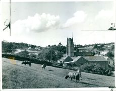The picturesque devon village of abbotskerswell.