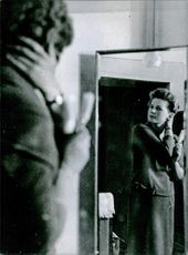 Valentina Tereshkova fixing up her hair. November 13, 1963.