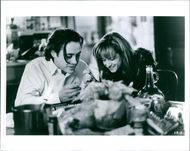 Robert Downey Jr. and Holly Hunter in a scene from