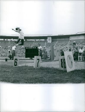 A High Jump competition. August 9, 1958