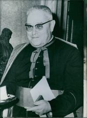 Portrait of Cardinal Benno Gut, 1967.