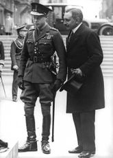 Duke of Windsor in a uniform with a man.