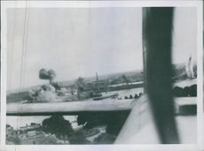 R.A.F. daylight attack on shipping at Rotterdam.