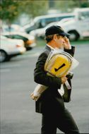 John McEnroe arrives at Flushing Meadows in front of the US Open 1998