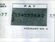 Picture of someone's account details.