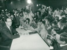 Jacques Chirac under en presskonferens