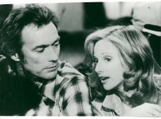 Clint Eastwood and Sondra Locke in the movie