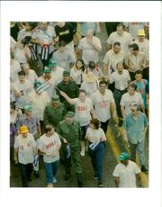 Fidel Castro thousands people rally.