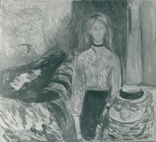 "Edvard Munch's painting ""Dark cane"" on canvas"