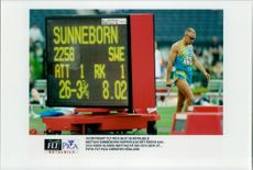 Mattias Sunneborn jumped 8.02, while it needed 8.05.