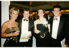 Virginia, Bob, Nicola and Sebastian Coe