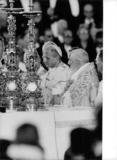Pope Paul VI having a mass.
