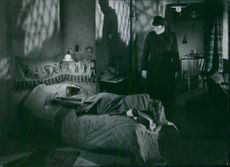 """Mai Zetterling and Alf Kjellin in a scene from the 1944 Swedish film, """"The Torment""""."""