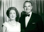 Averell Harriman with her husband.