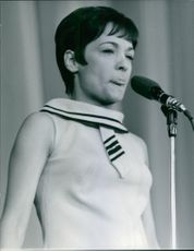 Suzanne Gabriello on one of her performance. 1967