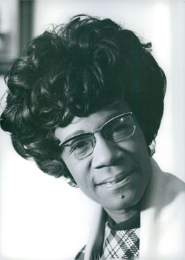 Vintage photo of Shirley Chisholm.