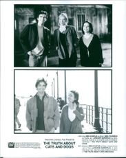 Ben Chaplin, Uma Thurman and Janeane Garofalo in the film The Truth About Cats & Dogs, 1996.