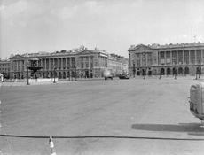Movie set showing Parliament house and military tanks.  - 1965