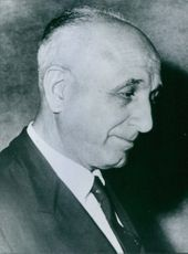 Portrait of Italian politician Raffaele Jervolino, 1965.